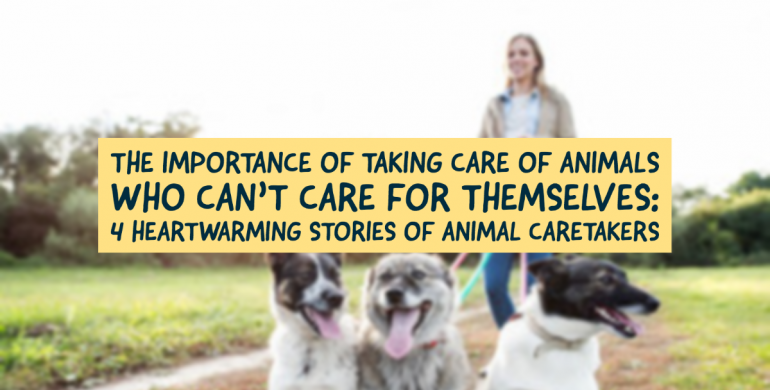 The Importance of Taking Care of Animals Who Cant Care For Themselves: 4 Heartwarming Stories of Animal Caretakers